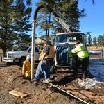 Evergreen Water District workers clear the supply lines to our building with some heavy vacuum equipment - 1/22/17