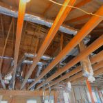 Heating and ventilation work proceeds in the rafters - 1/22/17