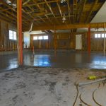 A view towards the east where the floor awaits a final surfacing - 2/22/17