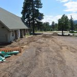 Excavation and cleanup in the parking area - 8/1/17