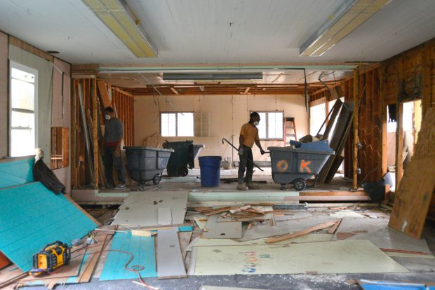 Demolition Begins on the Interior of our New Home