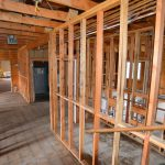Asbestos Mitigation Done -looking back over office and bathroom areas, the bad stuff is gone